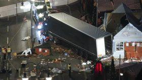 德國柏林耶誕市集卡車攻擊(圖/路透社/達志影像)