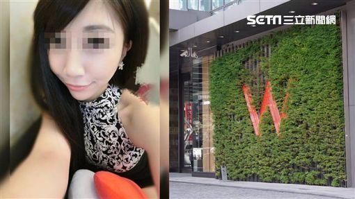 郭姓小模、w飯店/臉書、資料照