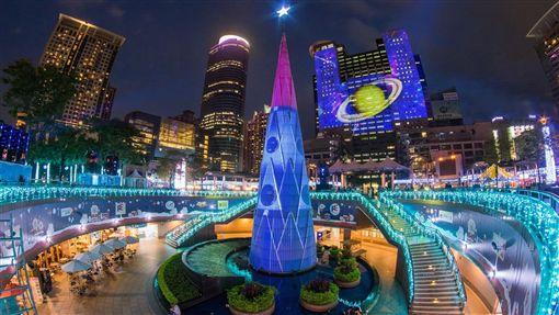 2016新北歡樂耶誕城光雕投影。(圖/新北市政府提供)
