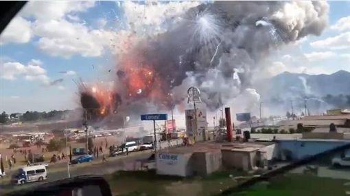 墨西哥煙火市集爆炸