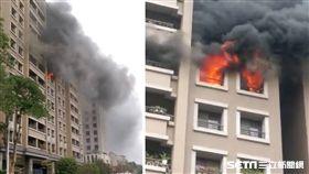 台中七期大樓火警 女子揮刀阻搶救殺傷警、火災、大樓