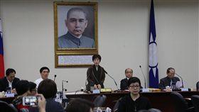 國民黨中常會,國民黨主席洪秀柱。(國民黨提供)