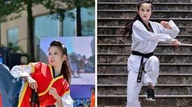 越南女警,跆拳道,美女,正妹,網紅 (圖/翻攝自騰訊新聞)