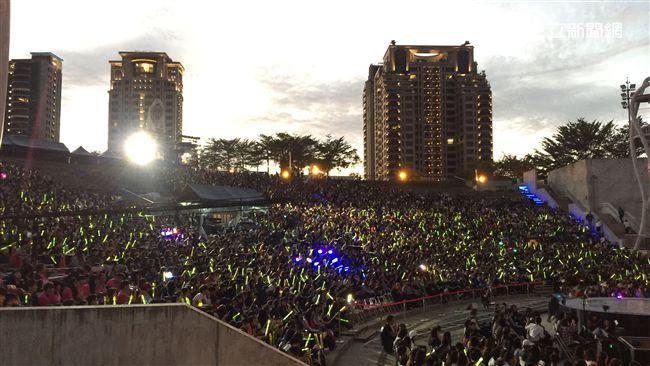 最強音熱力開唱中 湧入近六千名觀眾