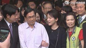 陳水扁出席陳幸妤牙醫診所開幕活動