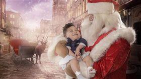 耶誕節,耶誕老人,攝影師,醫院,病童(圖/翻攝自Story Art臉書)