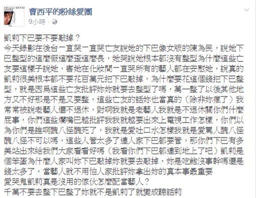 梁凱莉、曹西平/臉書