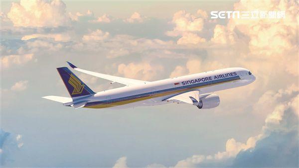 新加坡航空A350客機,新航。(圖/新航提供)