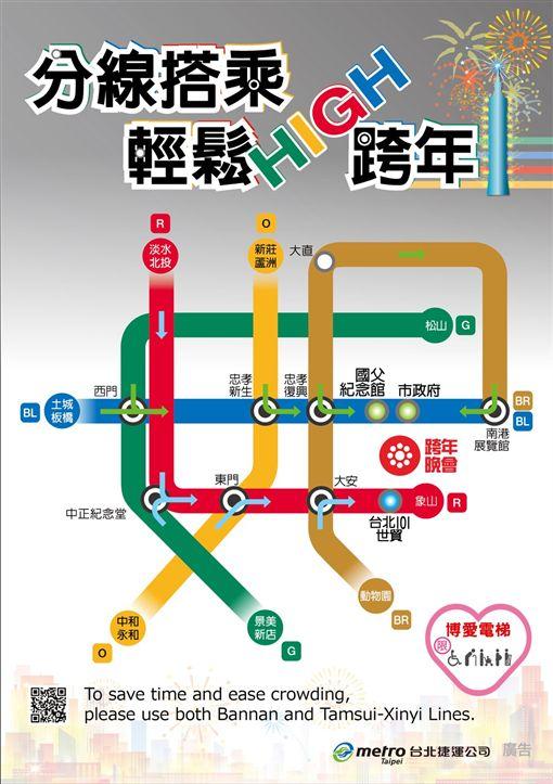 必看!潮天團陪High跨年 台北捷運分線搭乘、3線離場