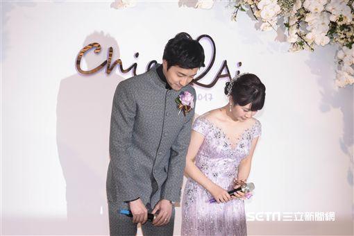 台灣桌球好手江宏傑與日本桌球甜心福原愛今日在晶華酒店舉行婚禮 圖/記者林敬旻攝