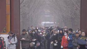北京,霧霾,下雪(圖/翻攝自京華時報微博)