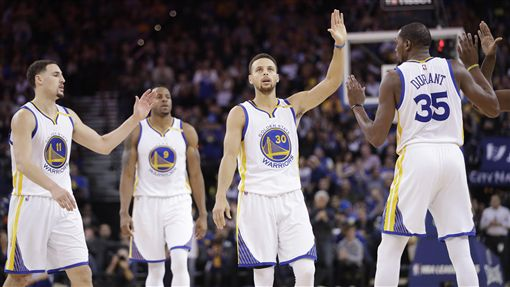 勇士,Stephen Curry,Kevin Durant,Klay Thompson(ap)