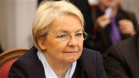 法國南部小城波萊納(Bollene)市長龐帕爾(Marie-Claude Bompard)拒絕幫女同志證婚.同姓婚姻(圖/美聯社/達志影像)