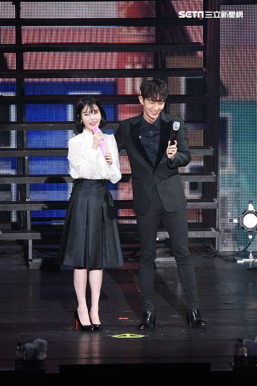 韓國女星IU來台開唱,李準基驚喜現身站台