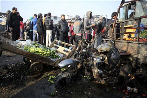 巴格達,賈米拉,果菜市場,汽車炸彈(圖/美聯社/達志影像)