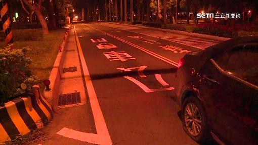 爆胎車違規逆向 龜速駕駛竟不知誤闖公車道