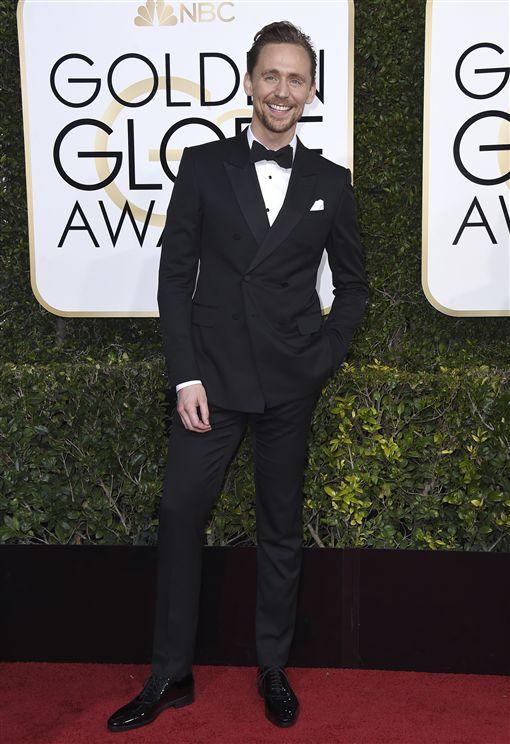 金球紅毯 湯姆希德斯頓Tom Hiddleston 圖/美聯社