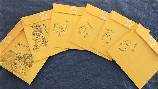 お年玉,紅包,紅包袋,小孩,年級,畫風,雞年,日本(推特 https://twitter.com/kagemans/status/815404910804017152)