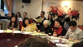 台北市議會9日進行北市府105年總預算政黨協 王欣儀提供