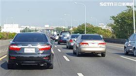塞車,國道,高速公路 圖/記者張碧珊攝影