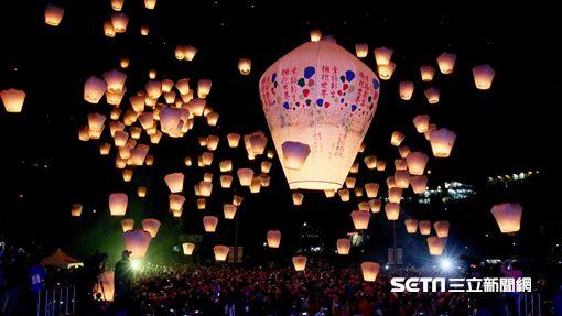 平溪天燈,元宵節。(圖/新北觀傳局提供)