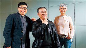 葉如芬(左起)、陳玉勳和李烈繼創下3 億票房《總舖師》後,再度合作拍片。(圖/楊文財攝影/商業周刊)(名家)