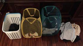 家事,折衣服,收納,尹行仁,整理,桶子,分類 (圖/翻攝自尹行仁臉書)