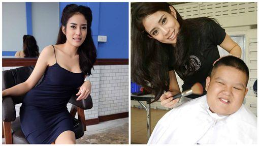 戀愛惹!正妹髮型師不只甜美還露事業線 理髮店開店就爆滿圖/翻攝自Nitchamon Jirapatchanon臉書