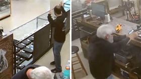 喬治亞,梅伯頓,Mableton,搶劫,槍枝店,歹徒,持槍,搶匪,反制 (圖/翻攝自YouTube)