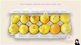 癌症,乳癌,徵兆,前兆,腫塊,凹陷,分泌物,靜脈曲張,橘皮 (圖/翻攝自Erin Smith Chieze臉書)