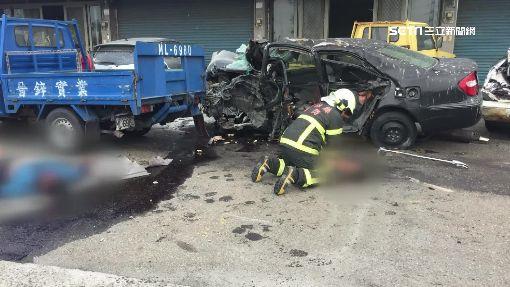 慟!麥寮2轎車相撞三死四傷 孕婦一屍兩命