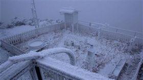 玉山氣象站下雪/中央氣象局