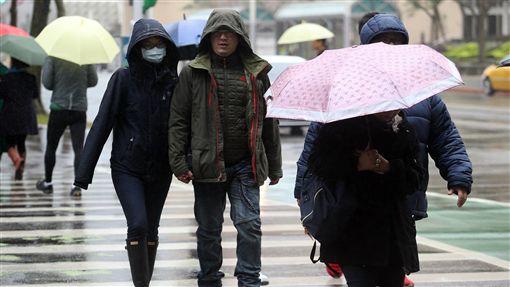 天氣,氣象,冷,下雨/中央社