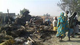 奈及利亞軍隊攻擊難民營(圖/無國界醫生提供)