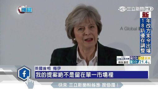"""""""硬脫歐""""確定! 英首相擬退出""""單一市場"""""""