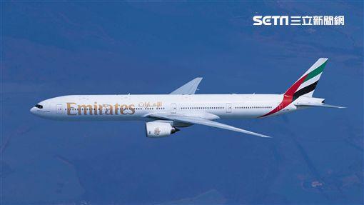 阿聯酋航空波音777-300。(圖/阿聯酋提供)