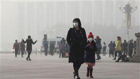 -霧霾-空污-北京-(圖/美聯社/達志影像)