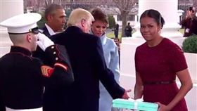 美國總統,白宮,川普,就職典禮,梅蘭妮亞,蜜雪兒 圖/翻攝自推特