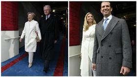 希拉蕊,柯林頓,川普,伊凡卡,就職典禮,褲裝,白色褲裝,撞衫 圖/美聯社/達志影像