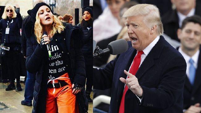 瑪丹娜遊行失言改口 炸掉白宮是隱喻