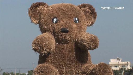 """憂花海裝置被坐垮 """"幸福熊""""拉封鎖線"""