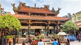 萬華龍山寺。(圖/翻攝自維基百科)