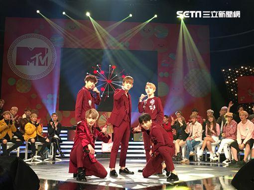 《我愛偶像》過年特別節目 韓國男團帥氣強勢踩場獻演出! 世界少年 INX 圖/MTV提供