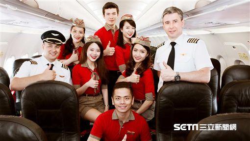 越捷航空,空姐,空少,Vietjet。(圖/越捷提供)