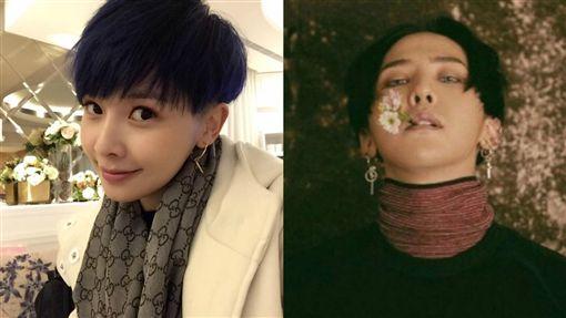 《甘味》女星回歸短髮造型 吳婉君意外撞臉GD。資料來源:吳婉君臉書、GD Instagram