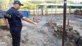 楊姓業者搶下董事長一職,開挖篩選優質土方,再引進事業廢棄物回填,使得養老中心土壤遭嚴重汙染(翻攝畫面)