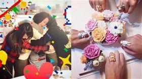 圖翻攝自賴薇如臉書 陳喬恩 七朵花