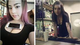 咖啡廳,女店員,北京,正妹,美女 圖/翻攝自微博
