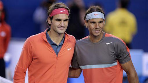 Roger Federer,Rafael Nadal,納達爾,費德勒(ap)