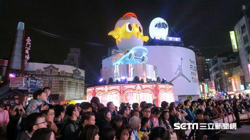 2017台北燈節點燈儀式。(圖/記者簡佑庭攝)